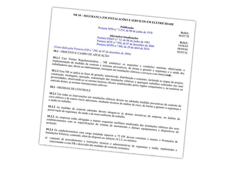NR10 disponibilizada por governo federal nos termos da Lei de acesso à  informação d1a8f5cb4f