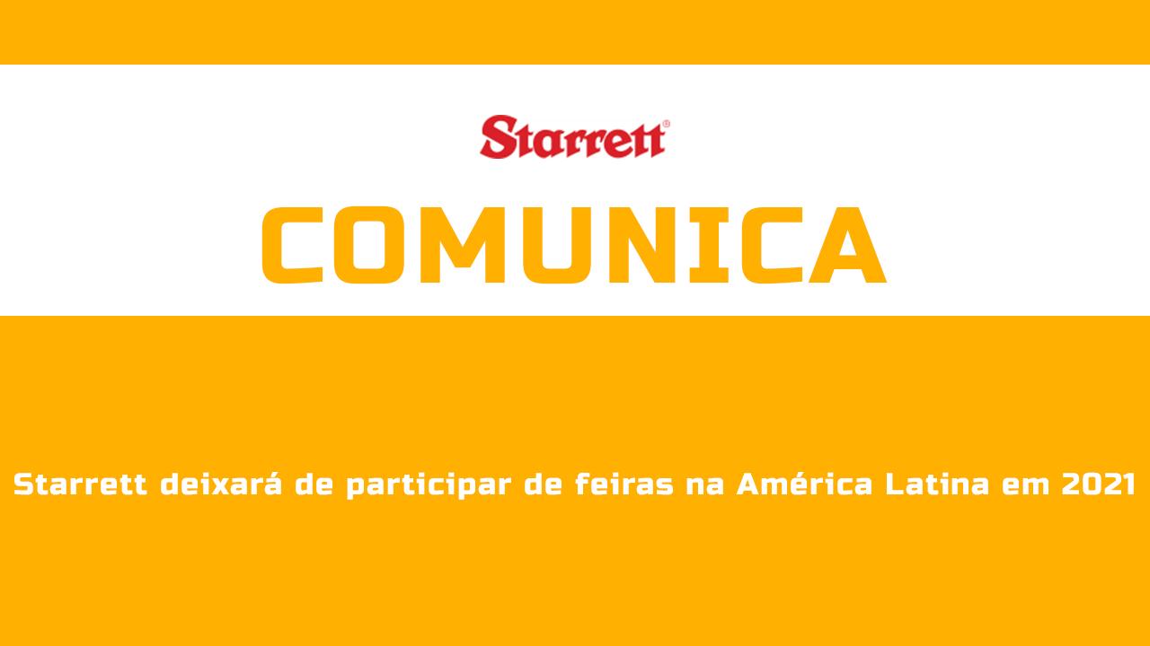 comunicado-starret Notícias - Revista Manutenção